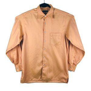 Ermenegildo Zegna Orange Long Sleeve Shirt L